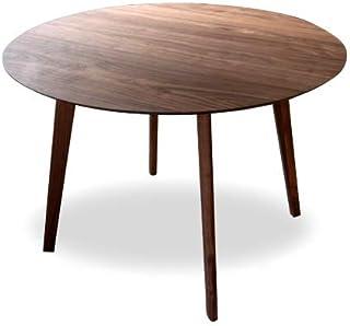 ダイニングテーブル 丸テーブル ヘンリー 円形 ウォールナット 無垢 110 110cm 丸 丸型 アンティーク 北欧 木製 天然木 カフェ カフェテーブル 円形テーブル おしゃれ モダン
