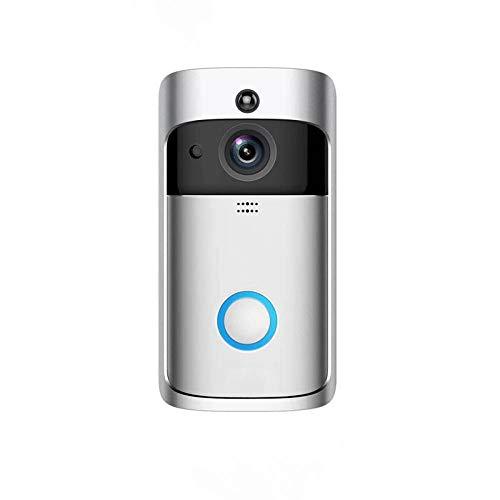 Sakilor Smart Doorbell Cámara WiFi Call Wireless Call Intercom Video-Eye for Apartments Door Bell Anillo para teléfonos Cámaras de seguridad para el hogar-blanco