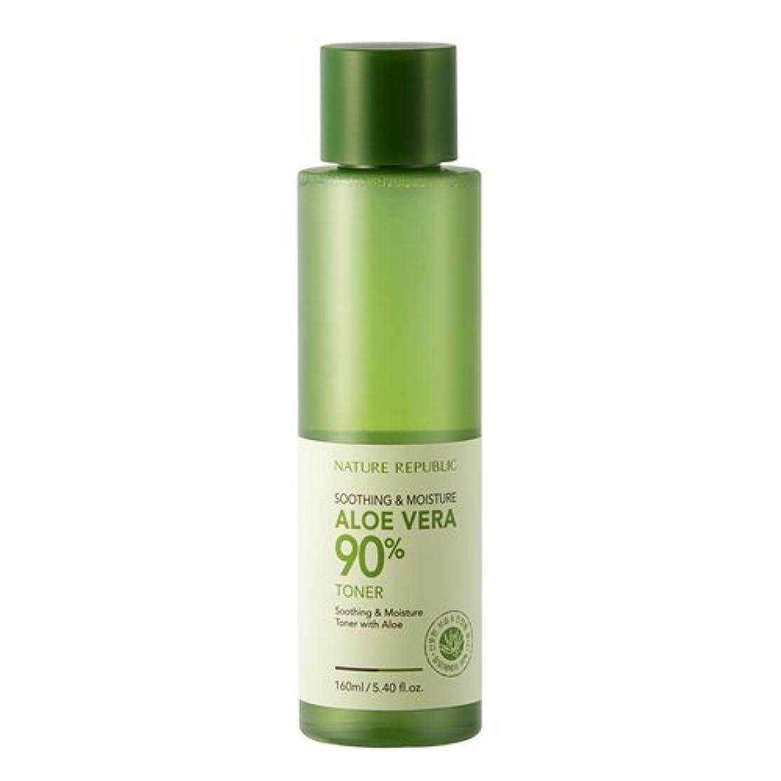 寝室郵便樫の木Nature Republic Soothing & Moisture Aloe Vera 90% Toner 160ml