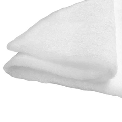 artapisserie.fr Molleton - Ouate au Mètre 300g/m², 160 cm de Large. 100% Polyester, Oeko-Tex Classe i, env. 20mm