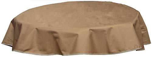 beo Table d'extérieur Plafond imperméable, Rond, diamètre 120 cm, Sable