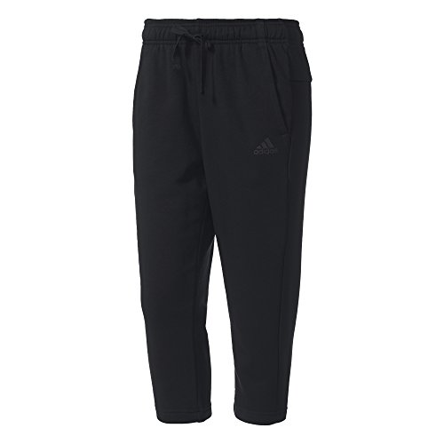 adidas Damen Essentials Solid 3/4 Hose, Black, L