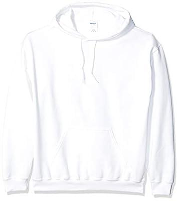 Gildan Men's Heavy Blend Fleece Hooded Sweatshirt G18500, White, Large from Gildan