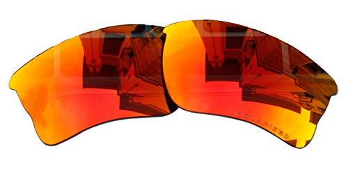 Polarized Lenses Replacement for Oakley Quarter Jacket Sunglasses (Fire redmirror)
