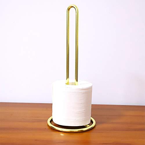 Wankd Eisen Küchenrollenhalter,Küchenpapierhalter Toilettenpapier Rollenhalter Toilettenpapier Halterung mit Metall - Farbe: Gold (chromiert)