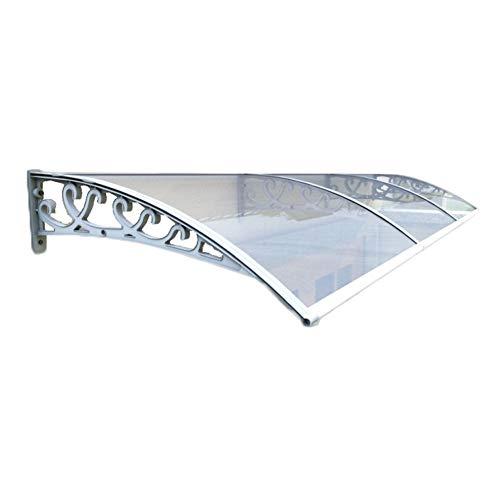 Überdachung Haustür Vordach Türdach Haustürvordach DIY Sun Shelter Anti UV Ultraleicht Sonnenschutz Pavillon Gartenmöbel Polycarbonatfolie (Size : 60x60cm)