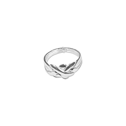 Alianza turca de 4 aros, anillo de la sultana, de plata de ley, disponible en diferentes tallas
