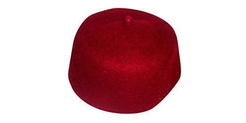 Desert Dress Red Fez 100% Wolle Türkisch Fez Tarbush Exotisch Ottoman Bekleidung Arabisch Tarboosh Marokkanisch Hut Herren - Nicht angegeben, Schwarz