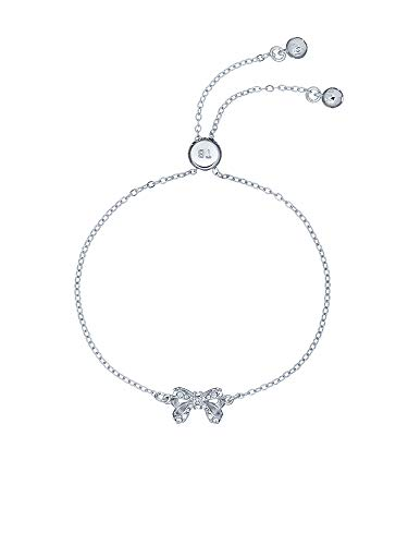 Ted Baker Carsaa Crystal Petite Bow Drawstring Bracelet Silver Tone