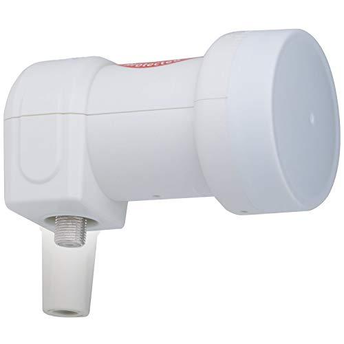 DUR-line +Ultra Single LNB - 1 Teilnehmer weiß - mit LTE-Filter [ Test SEHR GUT *] 1-Fach, digital mit Wetterschutz, Full HD, 4K,Premium-Qualität