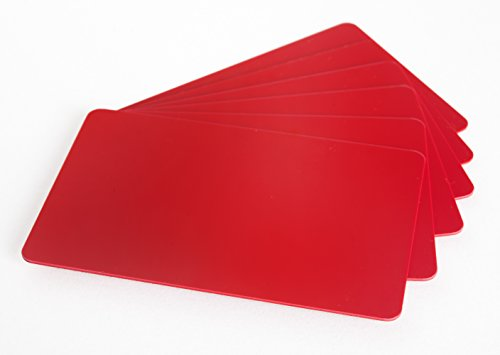 100 x Karteo® Plastikkarten rot   Blankokarten im EC-Kartenformat   für Ausweise Dienstausweise EC- und Bankkarten Gesundheitskarten