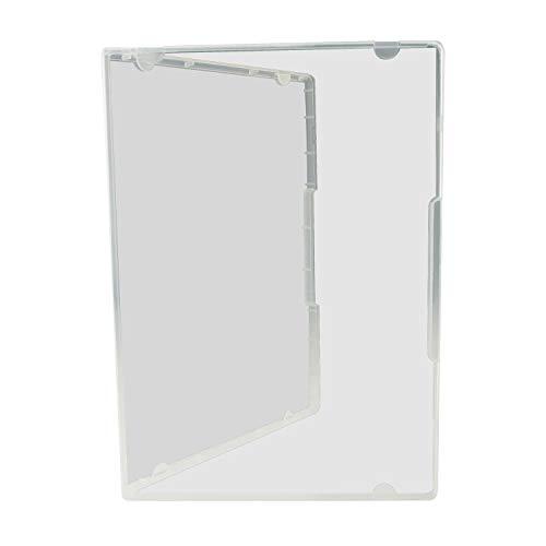 Kronenberg Multi-Storage-Box, DVD800 ultra clear, Aufbewahrungs-Box im DVD-Hüllen Format transparent, Maße 190x135x15mm - 20 Stück