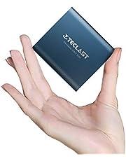 TECLAST SSD 外付け 256GB ポータブルSSD USB3.1 Gen2 2本ケーブル付き 耐衝撃 耐振動 超小型 コンパクト ポータブル PS4 PS4 Pro Mac対応 保護用革袋付き 日本語取扱説明書 3年保証 日本正規販売店