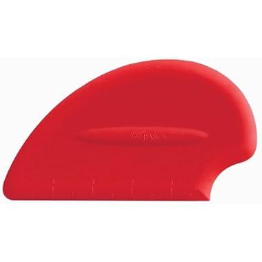 iSi North America B10001 Silicone Pastry / Bench Scraper Spatula, Red