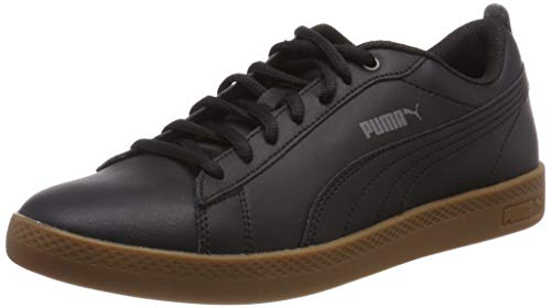 Puma Damen Smash Wns v2 L Sneaker, Schwarz Black-Dark Shadow-Gum, 40.5 EU