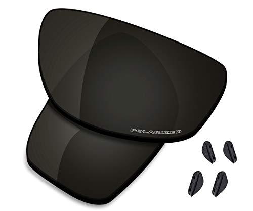 Saucer Oakley Valve OO9236 - Lenti di ricambio per occhiali da sole Oakley Valve 2014, (Alta definizione: nero carbonio polarizzato.), Taglia unica