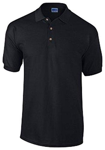 Gildan Herren Ultra Baumwolle Pique Kurzarm Polo Shirt Gr. M, schwarz