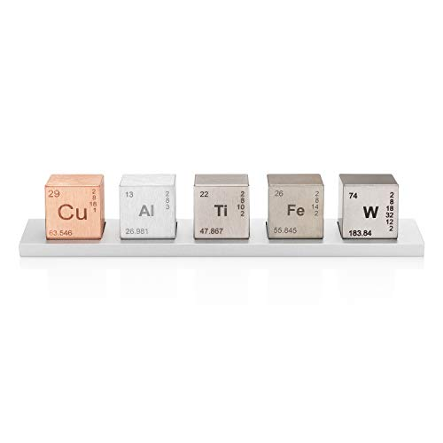 Element 1' Cube Set (Tungsten/Copper/Titanium/Aluminum/Iron)