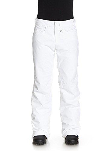Roxy Damen Snowboard Hose Backyards Pants, Brightwhite, L