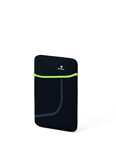 SWIZA laptophoes SWIZA laptophoes Moranda, neopreen materiaal, zwart groen, voor tablet 25,4 cm 10 inch, geen gegevens, geen gegevens, 682100