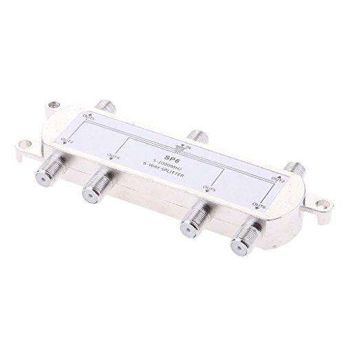 prasku Divisor de Cable Coaxial de 6 Vías F Tipo Tornillo 5~1000 MHz Antena de TV por Cable Split