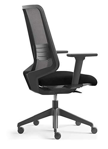 Ergonomics Chair/DotPro/Black with Lumbar & Adjustable arm - Professional Version