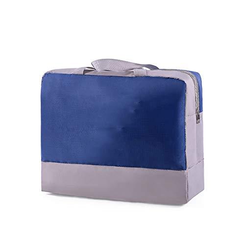 Sac de rangement Fitness Séparation humide et sèche pour articles de toilette, Synthétique, bleu marine, 42*37*18CM