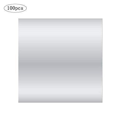 voloki 100 s Set Glossy 10 * 10 cm Farbe Aluminiumfolie Papier Brauner Zucker Schokolade Alufolie Geschenkpapier Lebensmittelverpackungen Aluminiumfolie Papier Weihnachten DIY Süßigkeiten Pretty Good