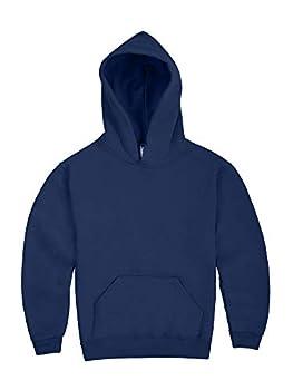 Jerzees boys Fleece Sweatshirts Hoodies & Sweatpants Hooded Sweatshirt Hoodie - Navy Medium US