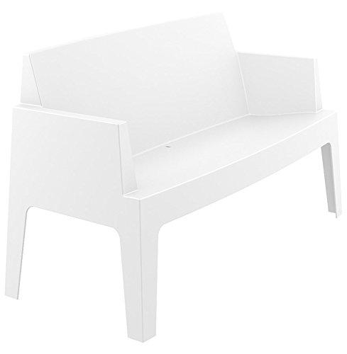 Alterego - Banc de jardin 'PLEMO XL' blanc en matière plastique