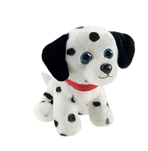 First & Main 7' White & Black Wuffles Dalmatian Puppy Dog Basic Plush Toys