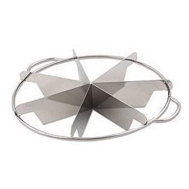 1 X NEW, 6-Slice Pie Cutter Press, 18/8 Gauge Stainless Steel, Commmercial Grade, Side-Handles