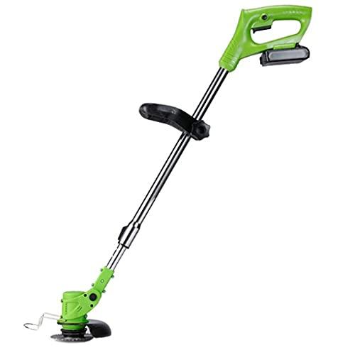 Retire el cortador de cable 48V inalámbrico sin escobillas verde, 1 * cortadora de césped eléctrica con batería de iones de litio, cortadora de césped doméstica pequeña recargable, cortadora de césp