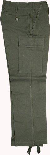 Solide imitation armée allemande moleskin bW pantalon de camouflage olive-taille 10 (10)