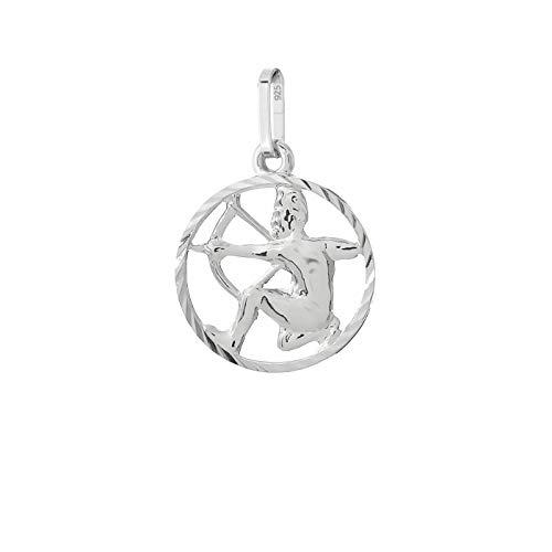 NKlaus Schütze Sternzeichen 925er Sterlingsilber Silber Ø 15mm Ketten Anhänger Horoskop 9169