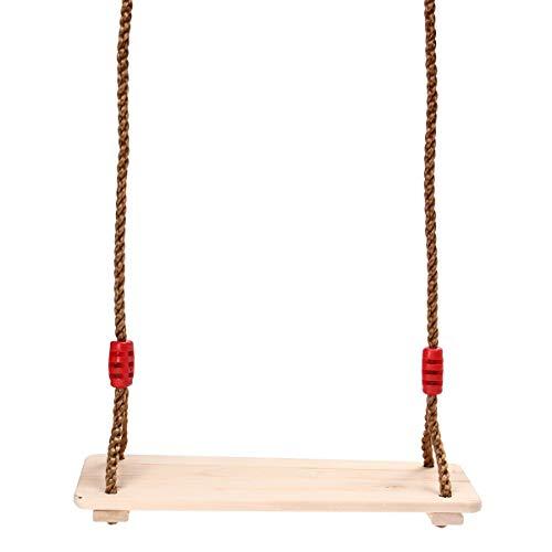 DYC Columpio colgante de madera para adultos y niños, pulido, anticorrosión, para interiores y exteriores