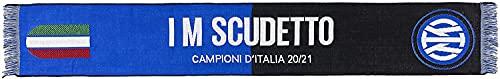 Sciarpa Ufficiale Inter. Modello 2021. Prodotto su licenza ufficiale F.C. Internazionale. Colore Nero Azzurro. 100% Acrilico. Modello I'm Scudetto Jacquarde