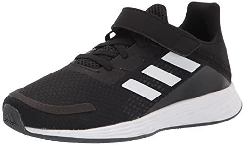 adidas Boy's Unisex Kids Duramo SL Running Shoe, Black/White/Dash Grey, 3 UK Child