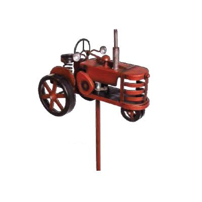 Headwind Consumer Products 830-1373 Solar Stake Light Metal Red Tractor