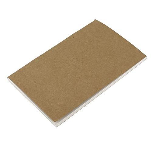RoxTop Standard 40sheets Kraft Paper Notebook Tagebuch Journal Reisende Notepad-Planer Study Schule Büro Papier- und Schreibwaren (hellbraun)