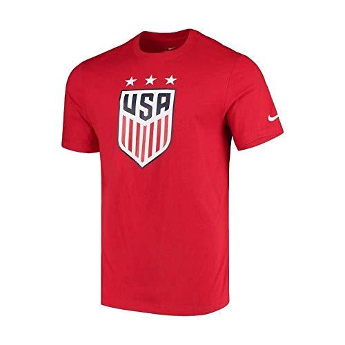 Nike Mens USA Soccer Crest Tee (Medium, Red)