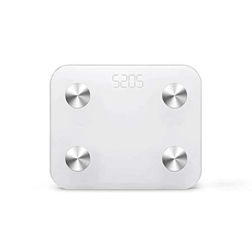 Básculas Digitales Cargador USB Smart Baño Peso Báscula electrónica Pantalla LED de Alta definición Pérdida de Peso Báscula de medición de Grasa Corporal 330 Libras Durable Básculas Digitales