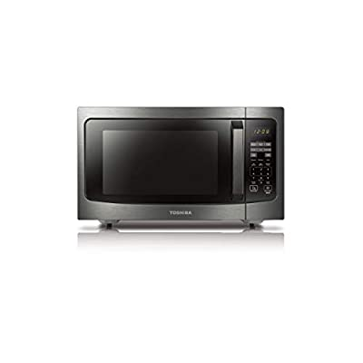 Toshiba ML-EM45P(BS) Countertop Microwave oven with Smart Sensor, Sound on/off Function and Position Memory Turntable, 1.6 Cu.ft/1200W, Black Stainless Steel