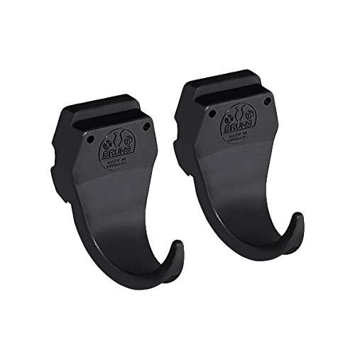 Bruns Gerätehaken 2 Stück schwarz für Universal Geräteleiste Ausführung BigDean Black Edition