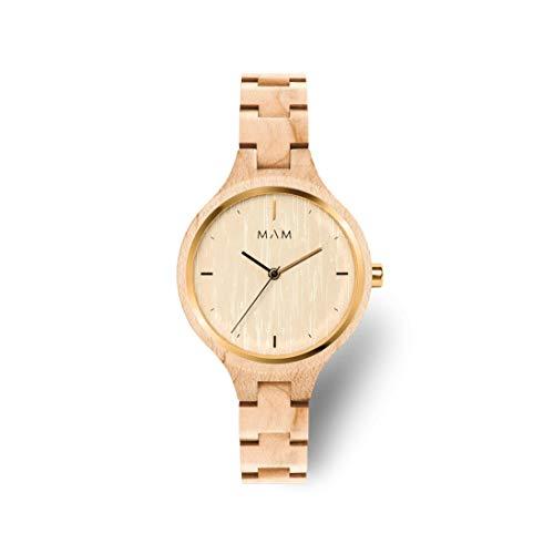 MAM Originals Damen Uhr Analog Quarz-Citizen 1L22 mit Holz Armband Geese Maple
