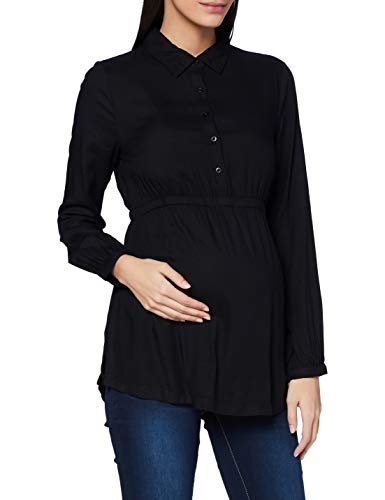 ESPRIT Blouse LS Camicia da Donna, Gunmetal/15, 40