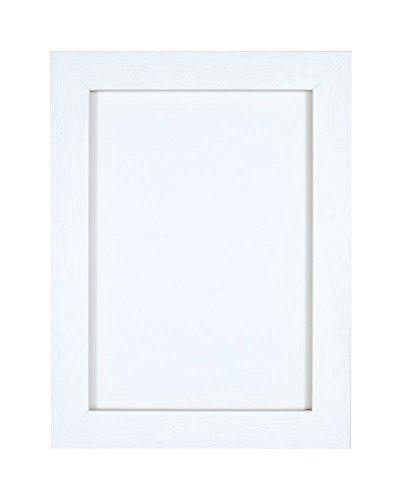 Geborsteld wit fotolijst/foto-/posterlijst - onbreekbaar plexiglas van styreen voor hoge helderheid - 35 mm breed en 15 mm diep - geborsteld wit - A1-formaat.