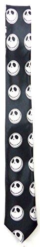 Evil Wear Krawatte Nightmare-Totenkopf Motiv schwarz Herren Damen Krawatten Skull Binder Schlipse black white Skull-Face Theme 5360