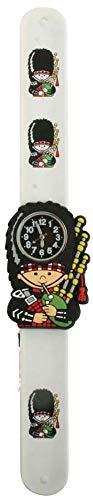 Unverzichtbares Geschenk. Kinder-Armbanduhr mit Schnappbefestigung, englische Aufschrift