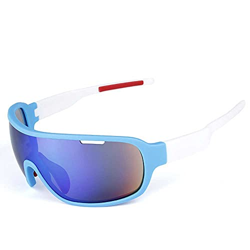 AXB Gafas Sol Polarizadas Ciclismo, Montura De TR90 Gafas Sol Deportivas 100% Protección UV 400 Anti Gafas Ciclismo para Montar se Adapta Al Esquí Correr Ciclismo